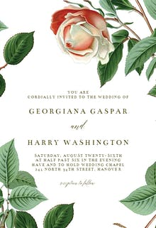 Retro Roses - Wedding Invitation