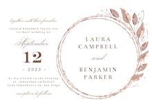 Rose Gold Geometric Floral Frames - Wedding Invitation