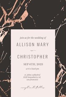 Rose Gold Marble - Wedding Invitation