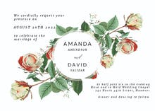Rose - Wedding Invitation