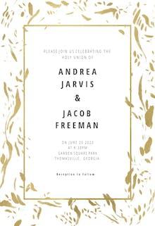 Rushed flakes - Wedding Invitation