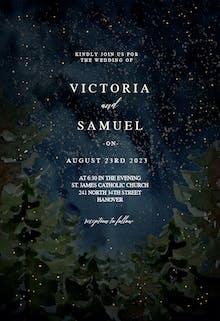 Rustic forest - Wedding Invitation