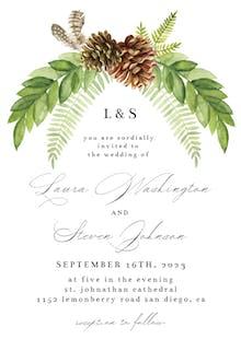 Rustic Greenery - Wedding Invitation