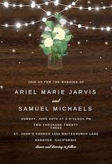 Rustic mason jar - Wedding Invitation