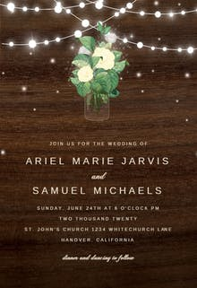Rustic mason jar - Wedding Invitation