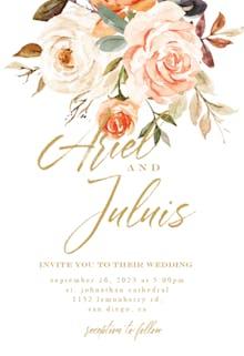 Rustic Roses - Wedding Invitation