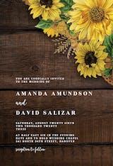 Rustic Sunflowers - Wedding Invitation