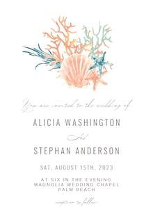 Sea Coral - Wedding Invitation