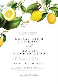 Sicilian lemon tree - Invitación De Boda