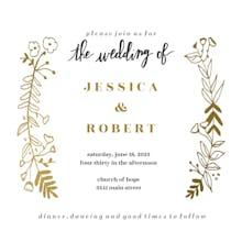 Side by Side Gold - Wedding Invitation