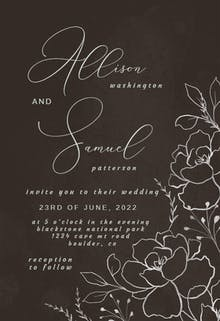 Silver Florals - Wedding Invitation