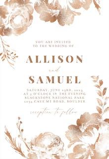Simple Burgundy Blush - Wedding Invitation
