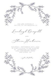 Simple Foliage - Wedding Invitation
