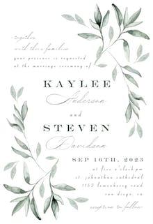 Simple Ivy and Sage - Invitación De Boda