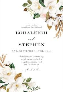 Simple Magnolia - Wedding Invitation