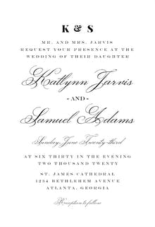 Simple Vintage - Wedding Invitation