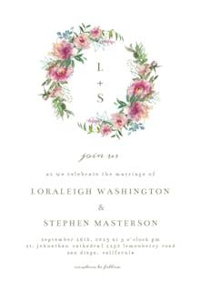 Sketchy Florals - Wedding Invitation