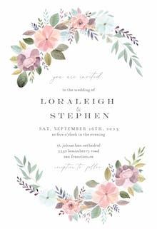 Soft Floral - Wedding Invitation
