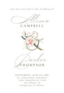 Soft Roses - Wedding Invitation