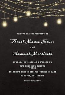 Sparkling mason jar lights - Wedding Invitation