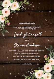 Sparkling rustic floral - Wedding Invitation