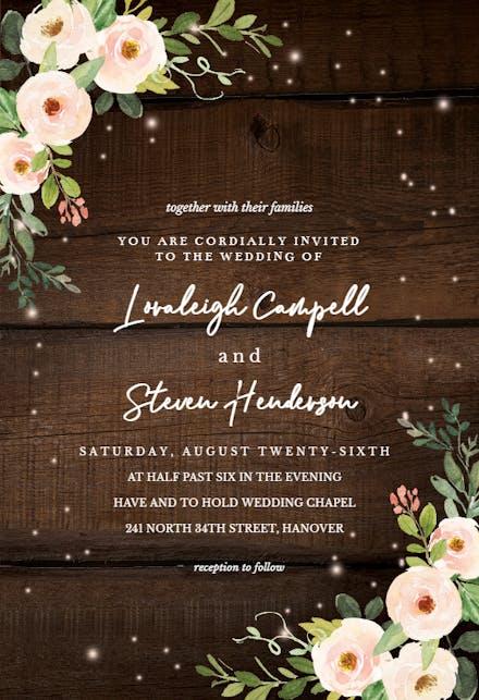 Wedding Invitation Templates (Free) | Greetings Island
