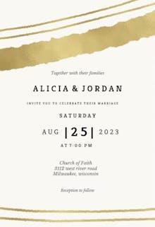Sprayed lines - Wedding Invitation