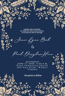 Sprig Sprays - Wedding Invitation