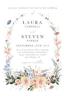 Spring Dusty Frame - Wedding Invitation