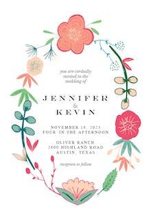 Spring Flowers - Wedding Invitation