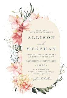 Spring Pastel Flower - Wedding Invitation