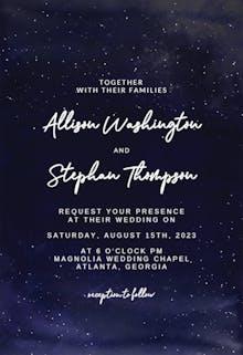 Starry Night - Wedding Invitation