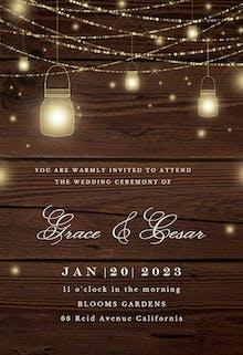 Strings of lights - Wedding Invitation