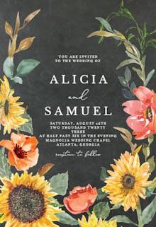 Sunflower Border - Wedding Invitation