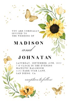 Sunflower Corner - Wedding Invitation