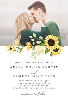 Sunflowers Wedding Day - Wedding Invitation