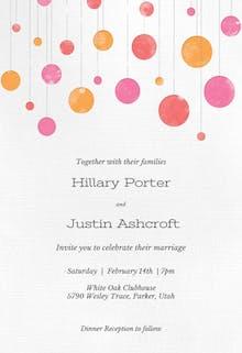 Suspended Circles - Wedding Invitation