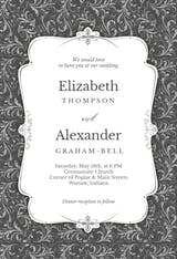 Tasteful Tapestry Frame - Wedding Invitation