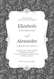 Tasteful Tapestry Frame - Wedding Invitation