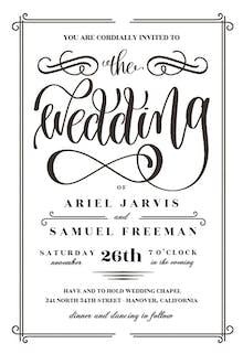 The Wedding - Wedding Invitation
