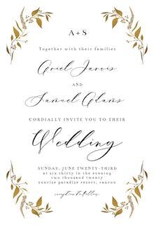 Tiny Gold Botanical - Wedding Invitation