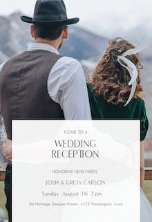 Toasting Two - Wedding Invitation