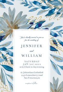 Touch of gold frame - Wedding Invitation