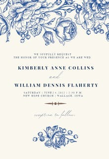 Touch of Rose - Wedding Invitation