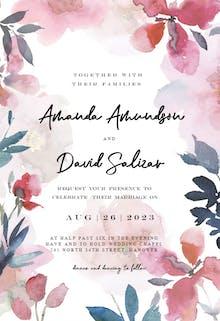 Transparent Flowers - Wedding Invitation
