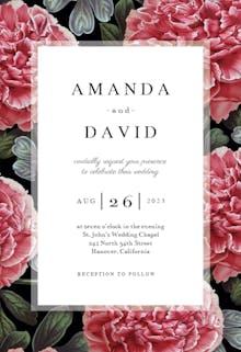 Tree Peony - Wedding Invitation