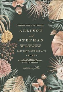 Tropical boho frame - Wedding Invitation