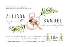 Tropical Letters - Wedding Invitation
