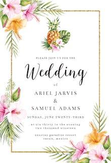 Tropical Pineapple - Wedding Invitation