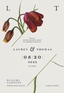 Tulips in bloom - Wedding Invitation